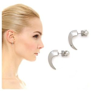 Rebecca Minkoff Reversible Claw Earrings NWOT